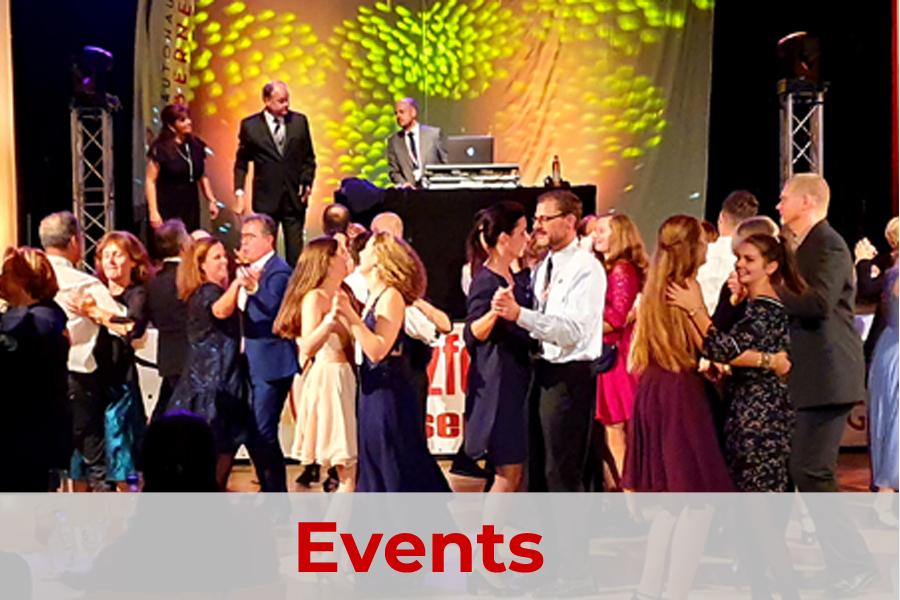 Tanzbälle und Veranstaltungen