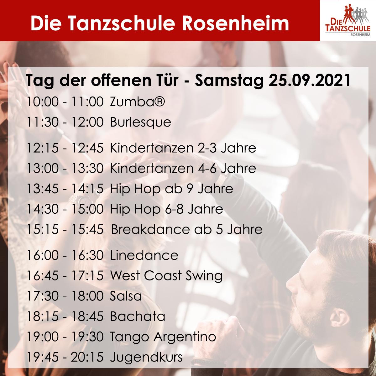 Tanzschule Rosenheim - Tag der offenen Tür